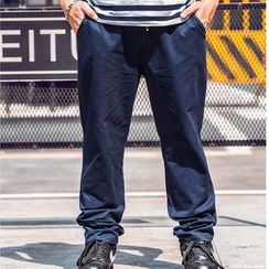 GARBO - Straight-Leg Drawstring Pants