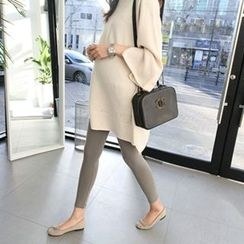 MARSHMALLOW - Maternity Boatneck Long Knit Top