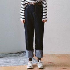 chuu - High-Waist Wide-Leg Jeans