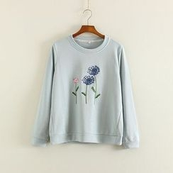 Mushi - Flower Embroidered Pullover