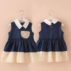 Seashells Kids - Kids Sleeveless Collared Panel Dress