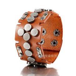 Trend Cool - Studded Genuine Leather Bracelet