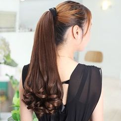 Goldilocks - Bow-Accent Ponytail Extension - Wavy