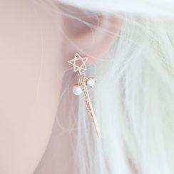 Love Generation - Star Drop Earrings
