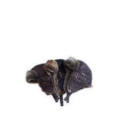 Ohkkage - Faux-Fur Trimming Biker Hat