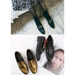 Chlo.D.Manon - Metal-Trim Loafers