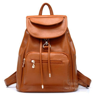 Buy BeiBaoBao Faux-Leather Drawstring Backpack | YesStyle
