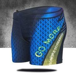 Aqua Wave - 印字游泳短裤