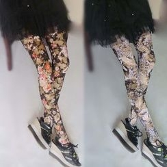 Flotide - Rose Lace Tights / Leggings