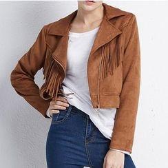 LUIMINE - Fringed Zip Jacket