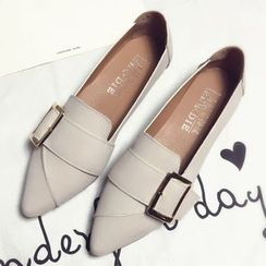 Zandy Shoes - Faux-Leather Flats