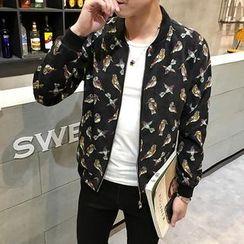 AOBIN - Floral Zip Jacket