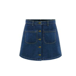 GRACI - Buttoned Denim Skirt