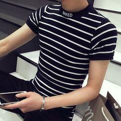 JVR - Striped Short-Sleeve Slim-Fit T-Shirt