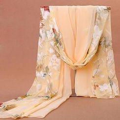羚羊早安 - 印花雪紡圍巾