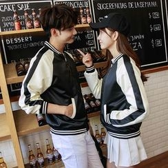 We Belong - Couple Matching Raglan Baseball Jacket