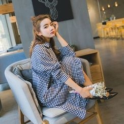 Romantica - Long-Sleeve Check Dress