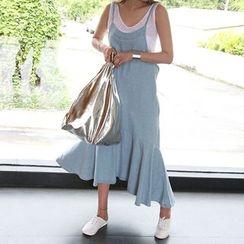 NANING9 - Sleeveless Denim A-Line Dress