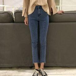 Jeans Kingdom - Cropped Skinny Jeans