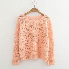 ninna nanna - Pointelle Knit Sweater