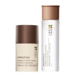 Innisfree - Set of 2: Soybean Energy Essence 150ml + Finish Cream 50ml