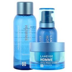 Laneige - Homme Active Water Triple Set : Skin Refiner 150ml + Emulsion 125ml + Cream 50ml