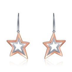 MBLife.com - 925 Sterling Silver Dangling Star Hook Earrings