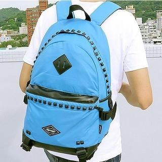 B.B. HOUSE - Studded-Trim Canvas Backpack