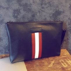 BagBuzz - Striped Applique Clutch