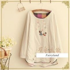 Fairyland - Embroidered Long-Sleeve Top