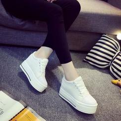 donnaren - Platform Hidden Wedge Sandals