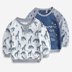 Happy Go Lucky - Kids Print Sweatshirt