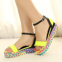 Mancienne - Color-Block Espadrille Sandals