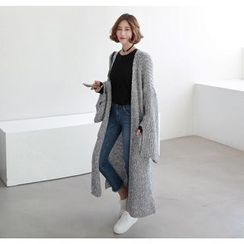 Miamasvin - Open-Front Chunky-Knit Long Cardigan