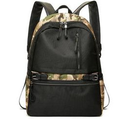 TESU - Camouflage Panel Canvas Backpack