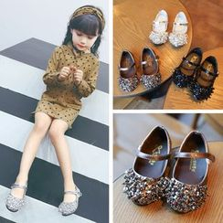 Hambu - Kids Faux-Leather Sequined Loafers