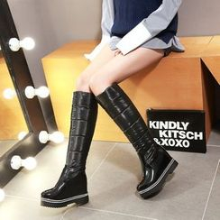 JY Shoes - Hidden Wedge Tall Snow Boots
