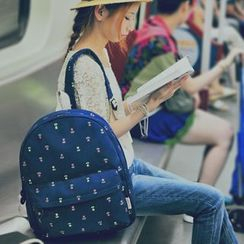 SUPER LOVER - Floral Canvas Backpack
