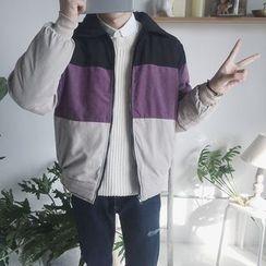 DragonRoad - Color Block Zip Jacket