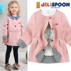 JELISPOON - Girls Collarless Neoprene Jacket