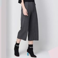 KASHAN - Wide-Leg Cropped Pants