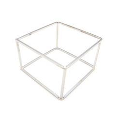 musé - Silver Three-Dimensional Cube Bangle