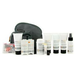 Menscience - Travel Kit: Face Wash + Lotion + Shave Formula + Post-Shave Repair + Shampoo + Deodorant + Lip Protection + Eye Mask + Ear Plugs + Bag