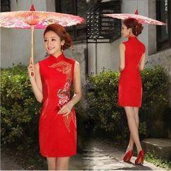 Bridal Workshop - Sleeveless Short Cheongsam