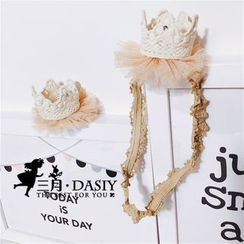 March Daisy - 皇冠蕾絲髮夾 / 髮帶