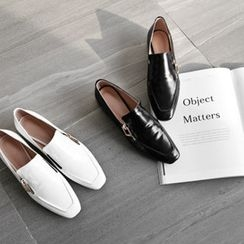 NIPONJJUYA - Square-Toe Zipped Loafers