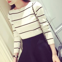 Lucy Girl - Striped Knit Pullover