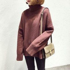 A7 SEVEN - Plain Turtleneck Sweater