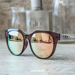Lose Show - Mirrored Square Sunglasses