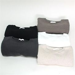 GLAM12 - Colored Round-Neck T-Shirt